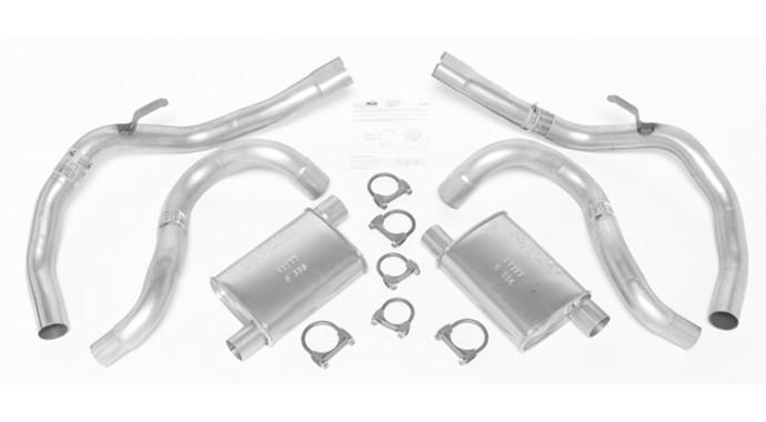 "Dual - 2""/2.5"" Muffler-Back System - Super Turbo™ Mufflers"