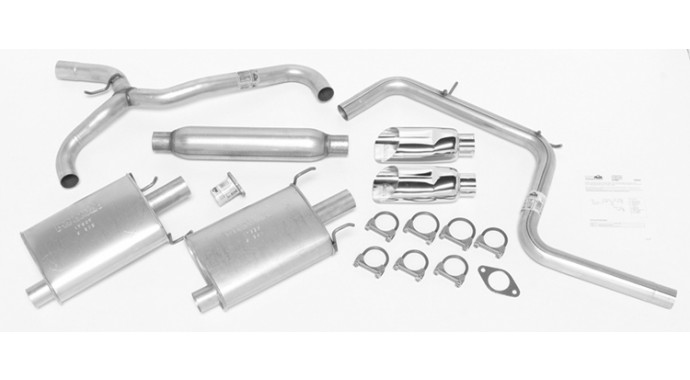 "Dual - 2.25""/2.5"" Cat-Back System - Super Turbo™ Muffler"