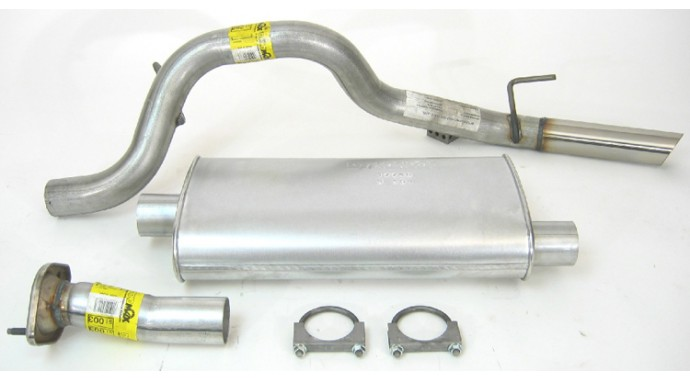 Single 25 Catback System Ultra Flo™ Welded Muffler: 2009 Jeep Liberty Exhaust At Woreks.co