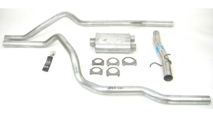dual - 3 u0026quot -2 5 u0026quot  cat-back system - super turbo u2122 muffler - p  n  19449