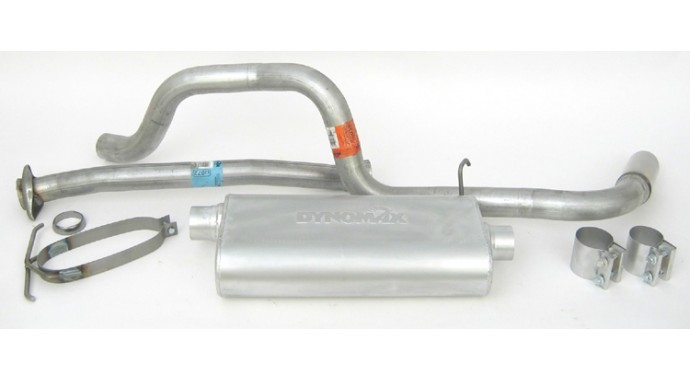 Single 25 Catback System Ultra Flo™ Polished Muffler: 1991 Ford Ranger Exhaust System At Woreks.co