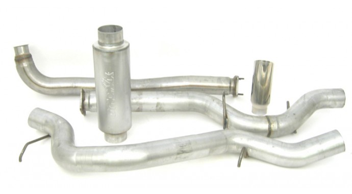 "Single - 4"" Turbo-Back System - Ultra Flo™ Welded Muffler"