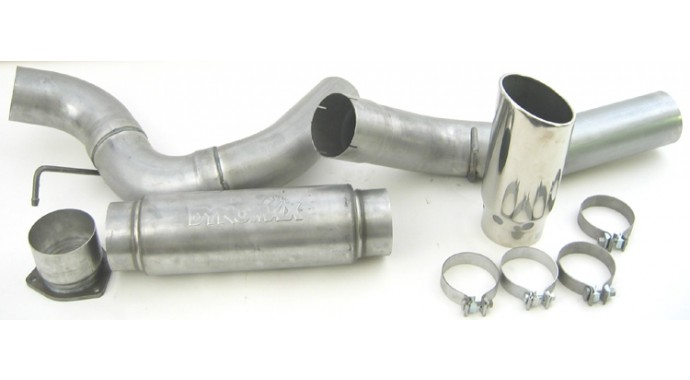 "Single - 5"" DPF-Back System - Ultra Flo™ Welded Muffler"