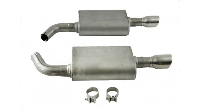 "Dual - 2.25"" Axle-Back System - Ultra Flo™ Welded Mufflers"
