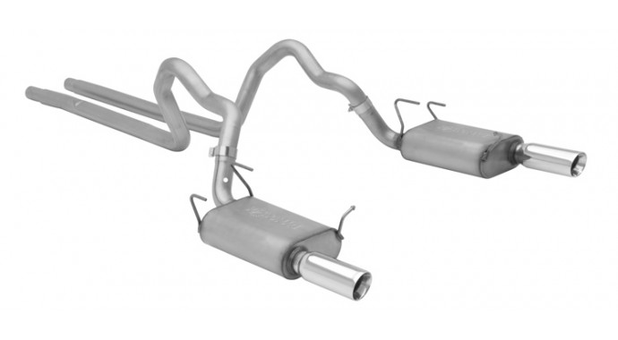 "Dual - 2.5"" Cat-Back System - Ultra Flo™ Welded Mufflers"