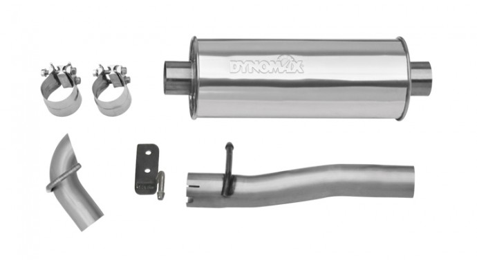 Single 25 Catback System Ultra Flo™ Polished Muffler: Jeep Tj Dynomax Exhaust At Woreks.co