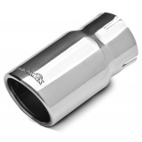 "304 Polished Stainless Steel Tip - Single Wall - Inlet Dia.: 2.5"" - Outlet Dia.: 3"" - Overall Length: 6"""