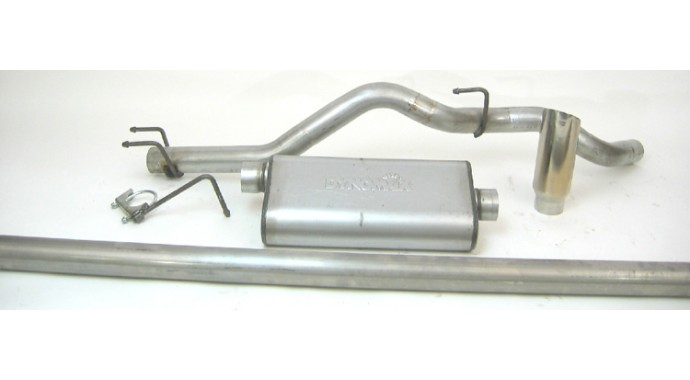 "Single - 3"" Cat-Back System - Ultra Flo™ Welded Muffler"