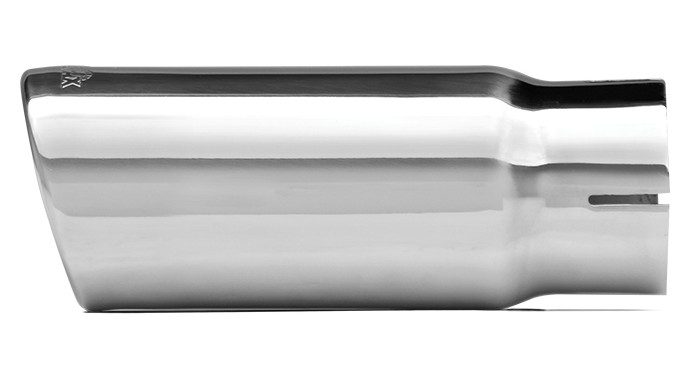 """304 Polished Stainless Steel Tip - Double Wall - Inlet Dia.: 3"""" - Outlet Dia.: 4"""" - Overall Length: 6"""""""