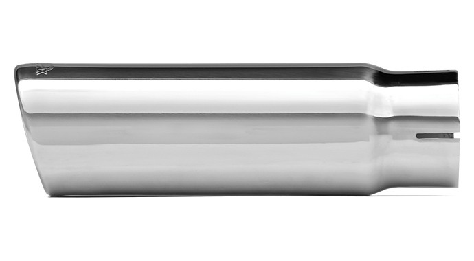 """304 Polished Stainless Steel Tip - Single Wall - Inlet Dia.: 3"""" - Outlet Dia.: 4"""" - Overall Length: 9"""""""