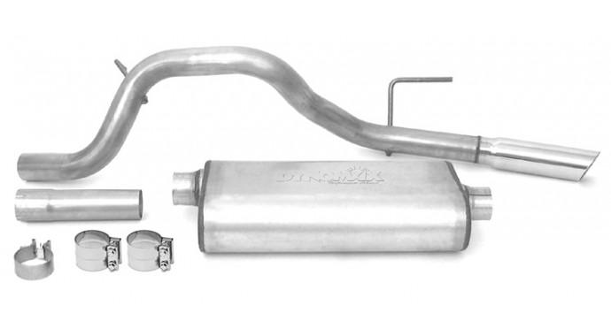 "Single - 2.5"" Cat-Back System - Ultra Flo™ Welded Muffler"