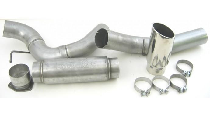 """Single - 5"""" DPF-Back System - Ultra Flo™ Welded Muffler"""