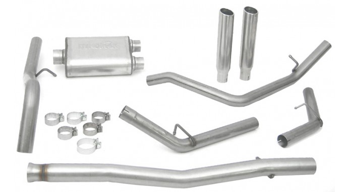 "Dual - 3""/2.5"" Cat-Back System - Ultra Flo™ Welded Muffler"