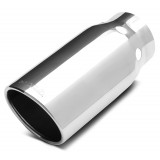 "304 Polished Stainless Steel DPF Cooling Tip - Single Wall - Inlet Dia.: 5"" - Outlet Dia.: 6"" - Overall Length: 14"""