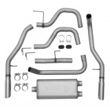 "Dual - 2.5"" Cat-Back System - Ultra Flo™ Welded Muffler"