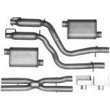 "Dual - 3"" Cat-Back System - Ultra Flo™ Welded Mufflers"
