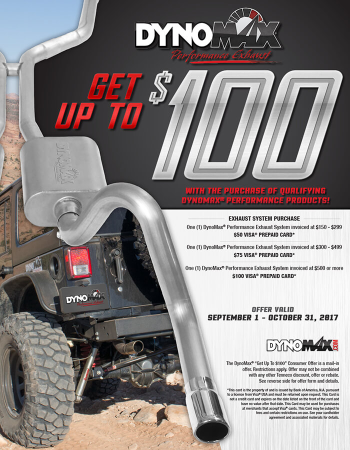 """DYNOMAX® """"GET UP TO $100"""" CONSUMER PROMOTION"""
